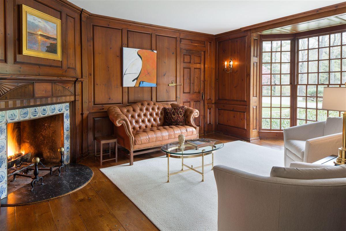 Luxury real estate impressive English-style stone and shingle Country Estate
