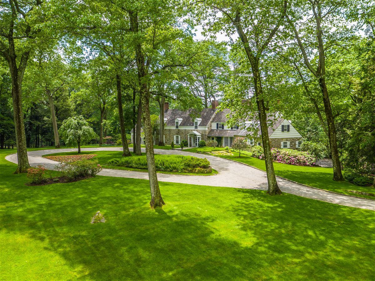 impressive English-style stone and shingle Country Estate luxury real estate