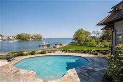 Lounge By The Pool In This High-End Home In Darien luxury real estate