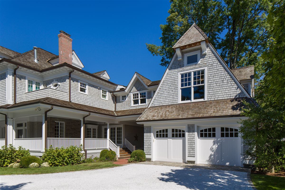 meticulously rebuilt shingle-style manor luxury properties