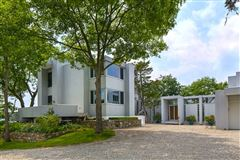 Luxury real estate modern architectural masterpiece atop 25 acres