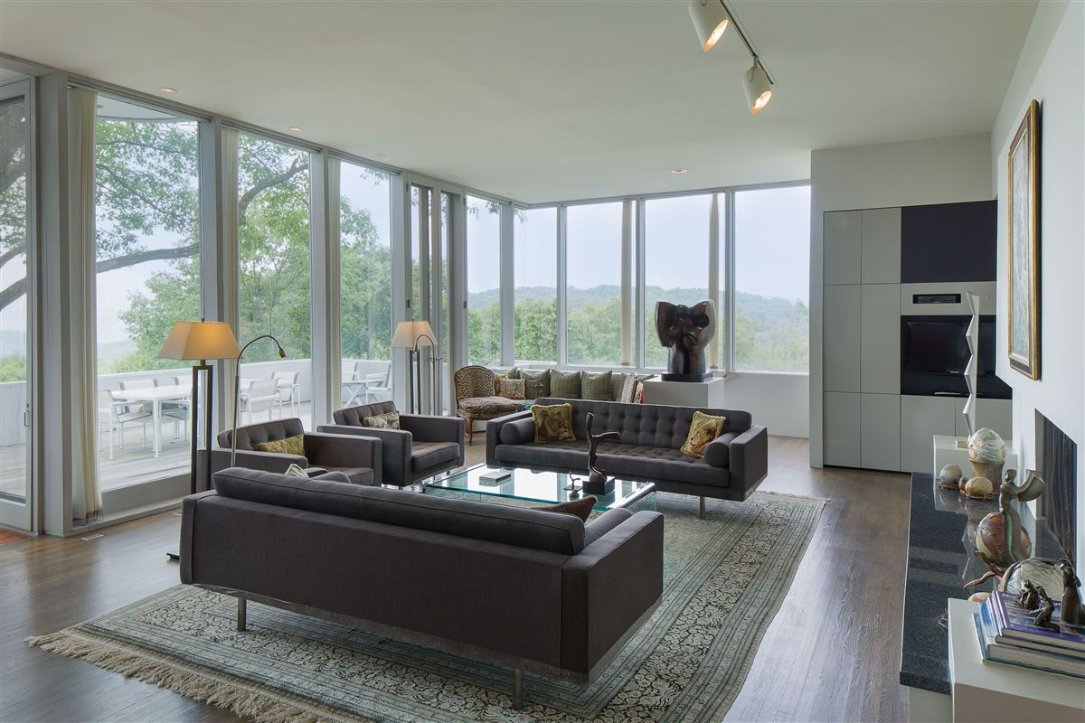 modern architectural masterpiece atop 25 acres luxury real estate