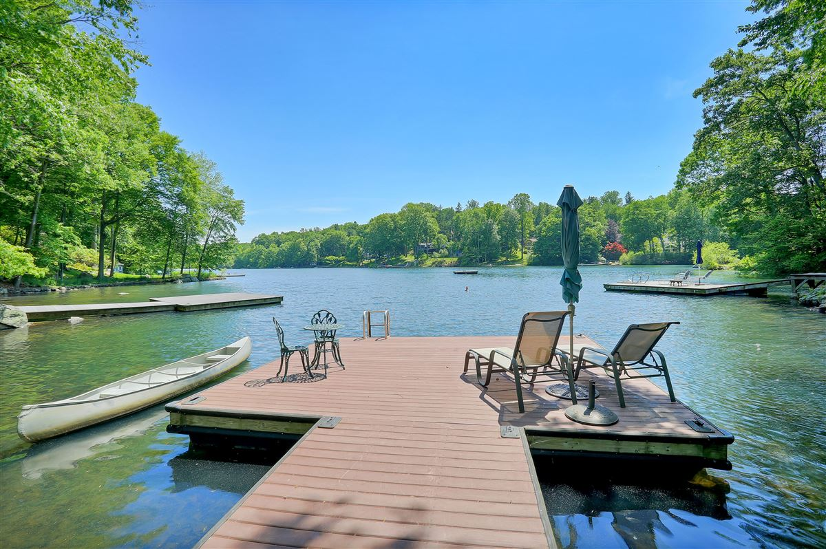 Magnificent lake front property mansions