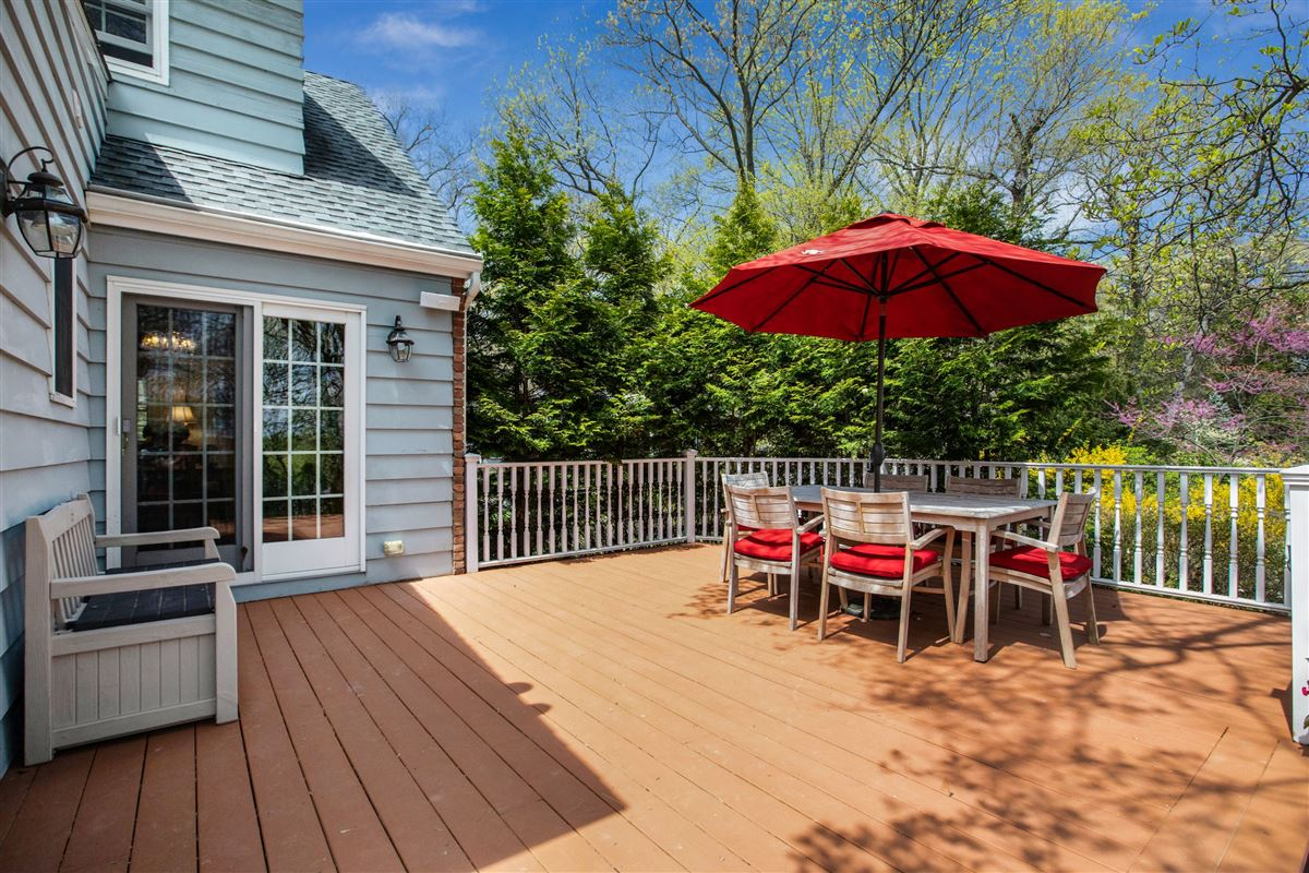 Luxury real estate Stylish and renovated home offers a deck and backyard