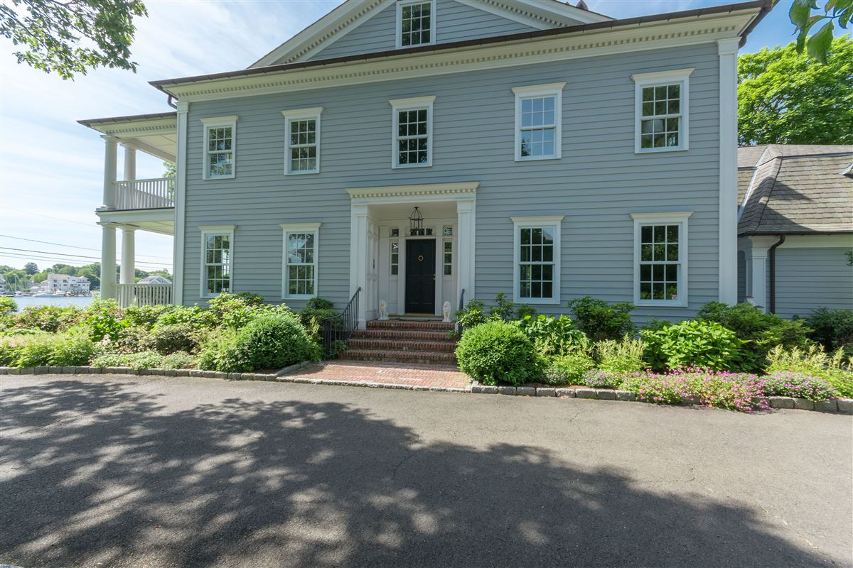coveted Five Mile River Road luxury homes