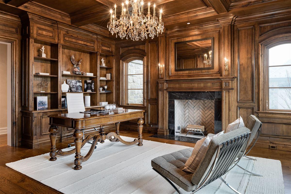 Luxury real estate elegant European inspired stone Manor