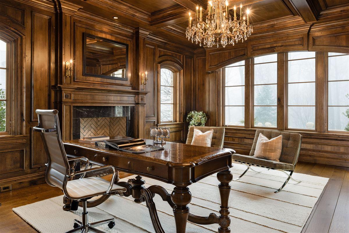 elegant European inspired stone Manor luxury real estate