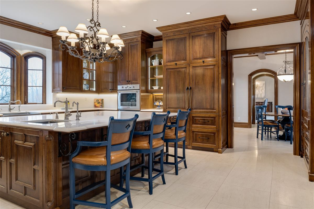 Luxury homes in elegant European inspired stone Manor