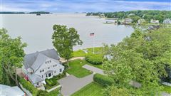 updated five-bedroom waterfront home luxury real estate