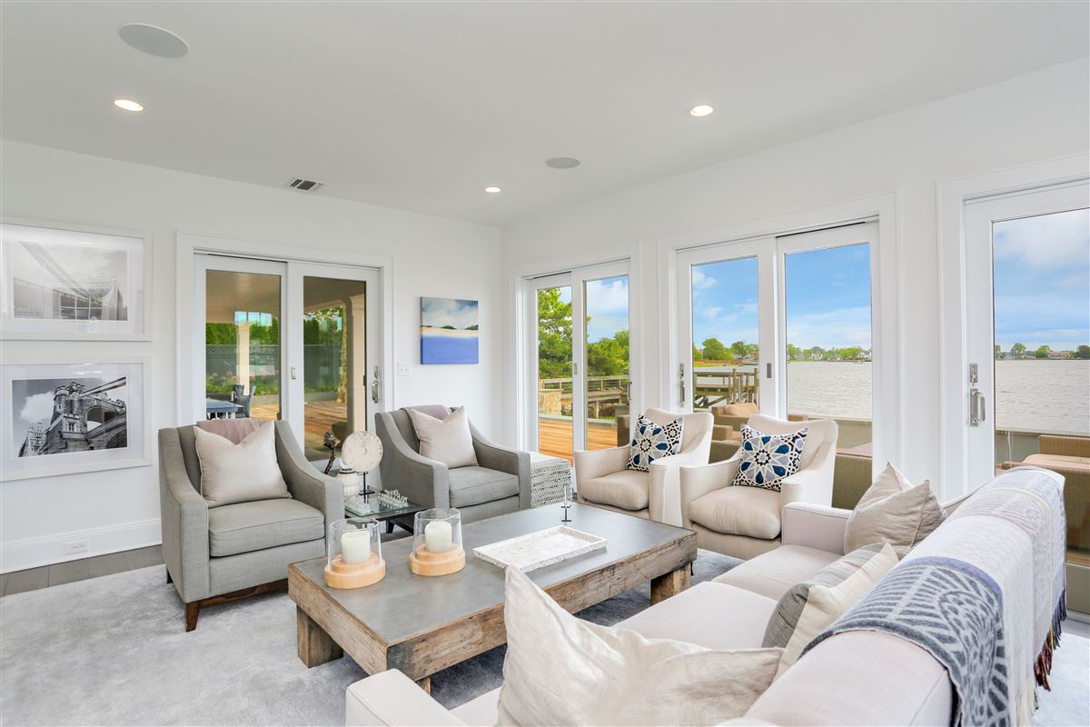 Luxury real estate updated five-bedroom waterfront home