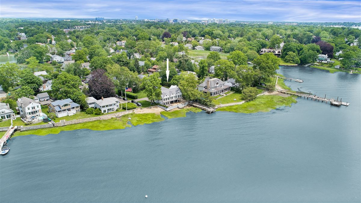 updated five-bedroom waterfront home mansions