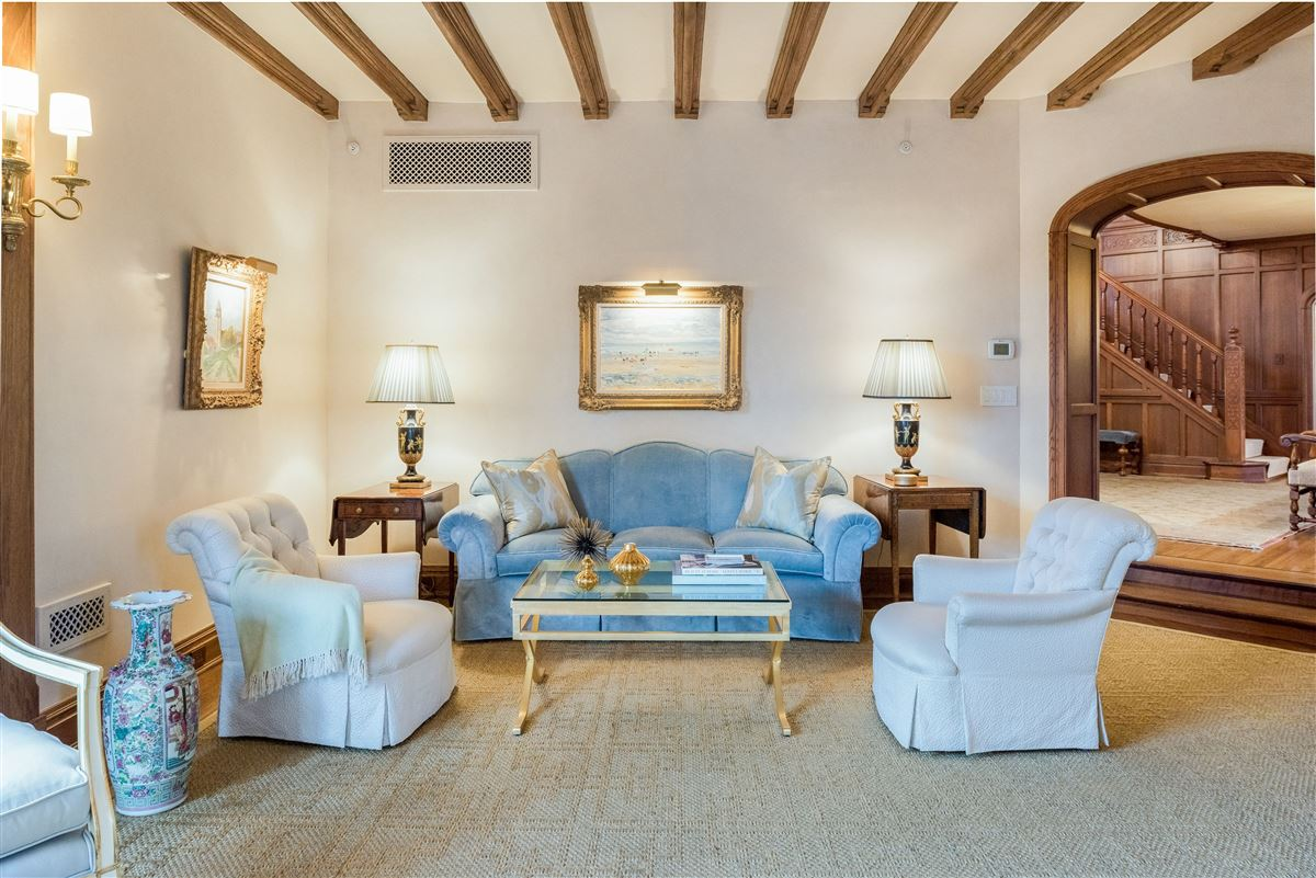 Luxury homes updated Cotswold Tudor Revival in New York