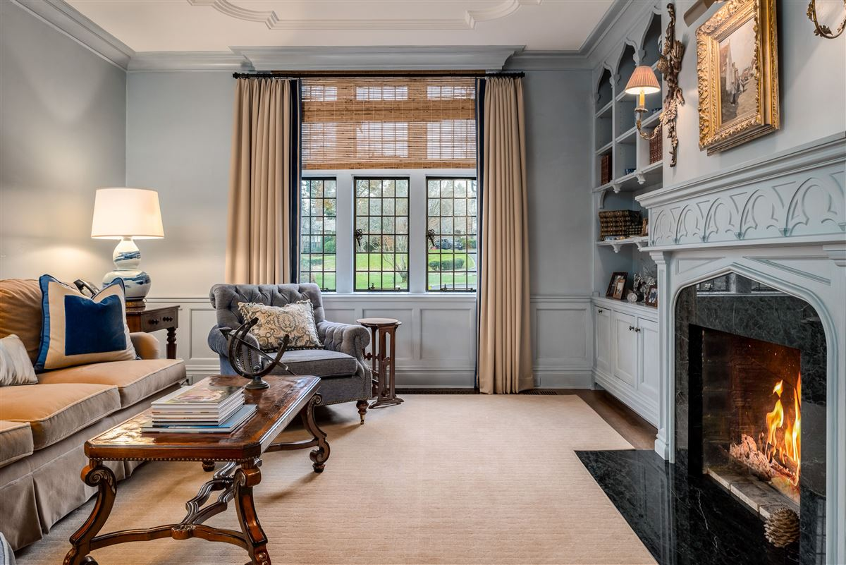 Luxury real estate updated Cotswold Tudor Revival in New York