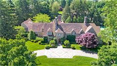 Exceptional Belle Haven peninsula stone English Manor style luxury properties