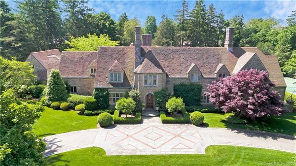 Exceptional Belle Haven peninsula stone English Manor style luxury homes
