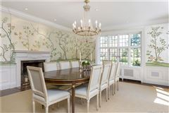 Luxury homes Exceptional Belle Haven peninsula stone English Manor style