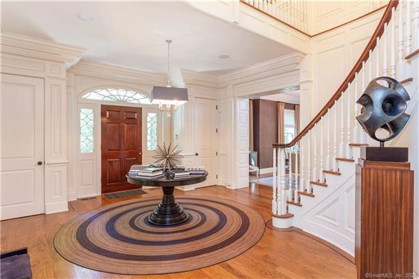 Elegant custom stone Georgian home luxury homes