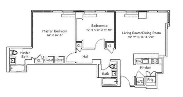 Luxury real estate Open and bright high-floor two bedroom