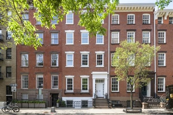 newly renovated five-story West Village townhouse mansions
