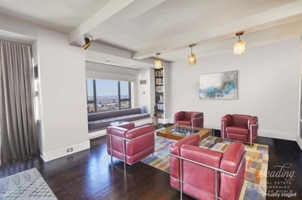 Luxury real estate sun-flooded renovated 47th floor home