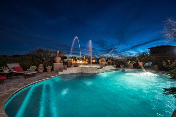 Luxury homes in Sonoran Desert and mountain views