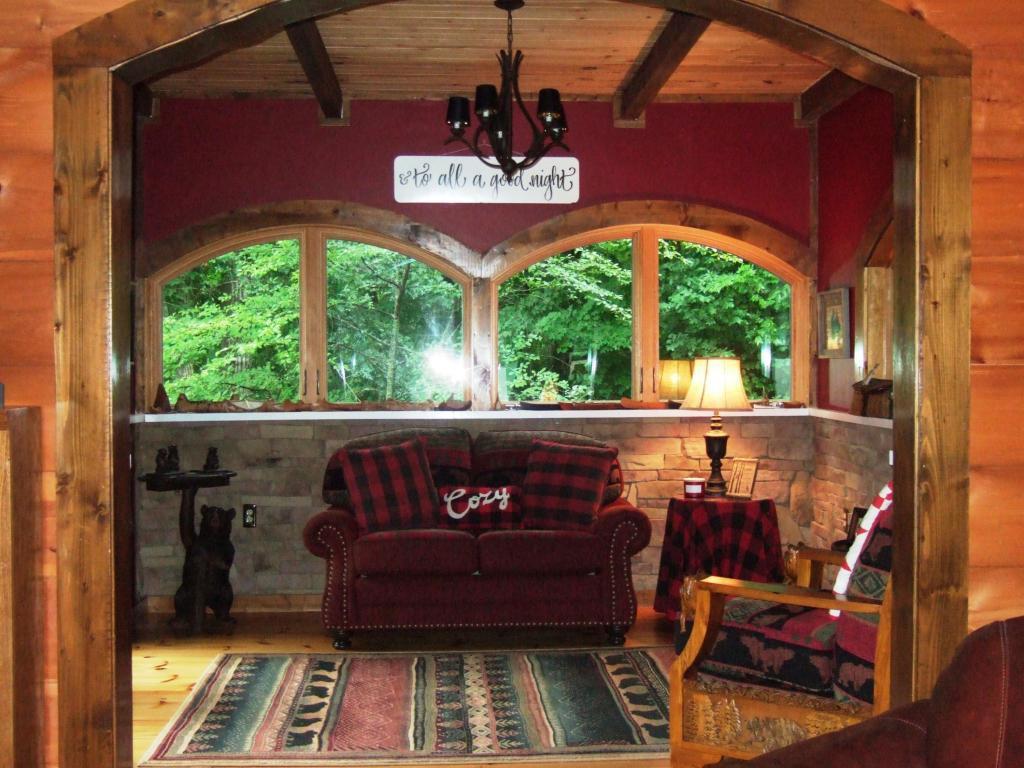 Mansions norris lake front custom built log home