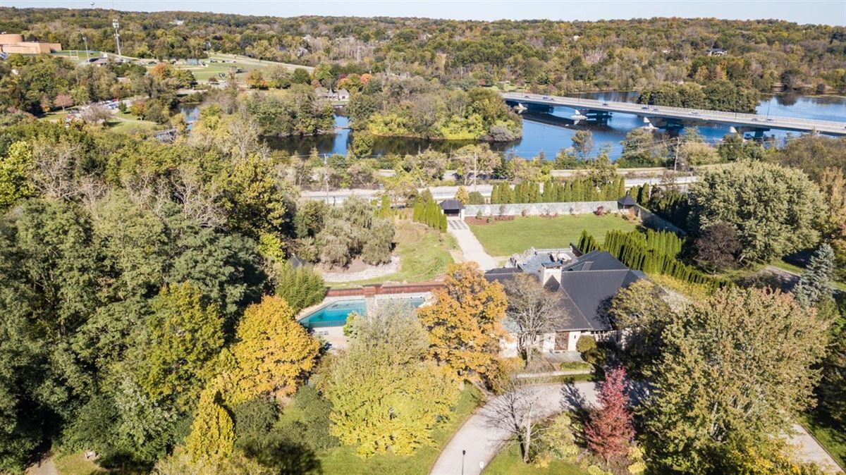 two acre site in the heart of Ann Arbor Hills luxury properties