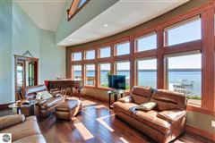 Mansions in no detail overlooked in this Stunning Home on Torch Lake