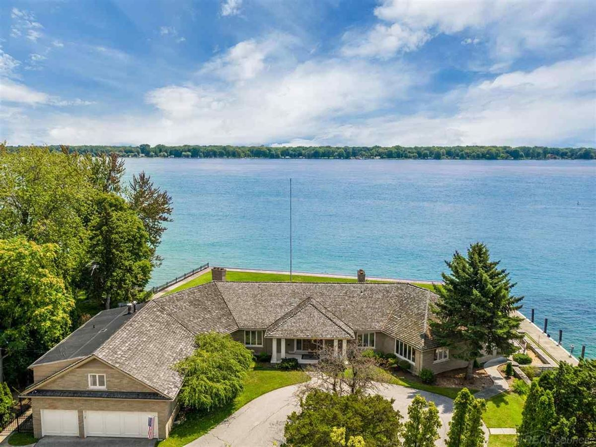 this beautiful estate home boasts stunning river views luxury homes