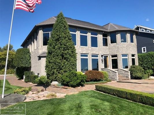 Luxury real estate custom lakefront home with spectacular lake views