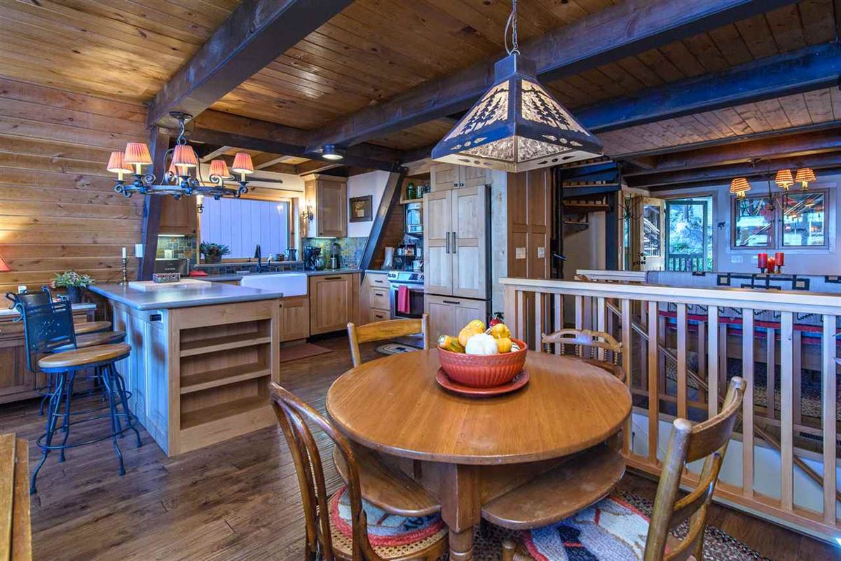 remodeled classic A-Frame Tahoe lake house luxury homes