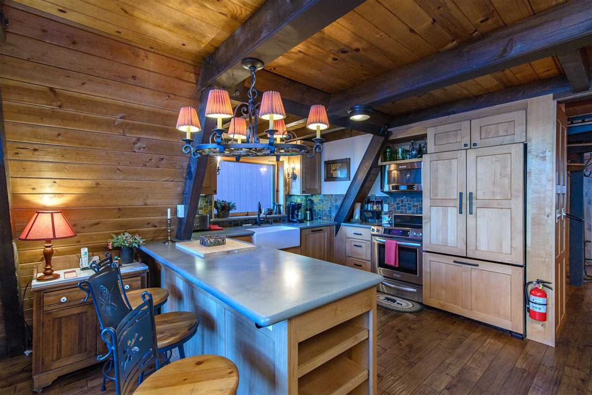 Luxury real estate remodeled classic A-Frame Tahoe lake house