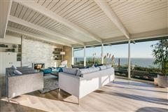 OCEANFRONT mid-century modern classic home mansions