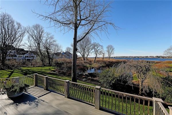 Luxury homes remodeled and updated spacious condo at Oyster Point offers grand waterfront views