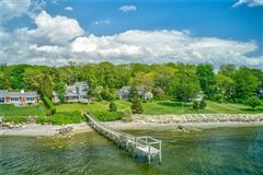 Luxury homes in Westerly facing waterfront home