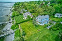 Mansions in Westerly facing waterfront home