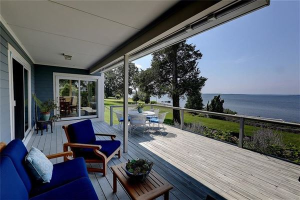 Luxury real estate Westerly facing waterfront home