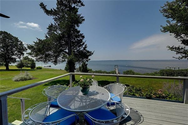 Westerly facing waterfront home luxury real estate