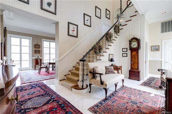 Luxury properties magnificent home beautifully sited on over five acres overlooking Lake Reed