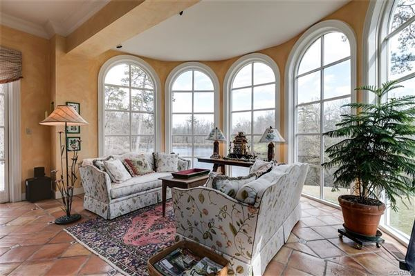 Luxury real estate magnificent home beautifully sited on over five acres overlooking Lake Reed