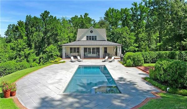 a 32.9-acre gated country estate in Eastern Goochland luxury homes