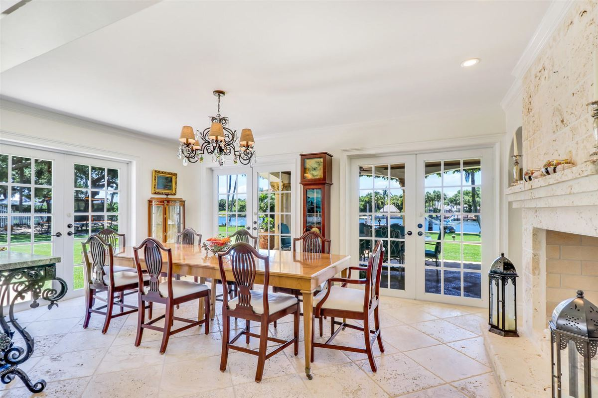 Direct Intracoastal waterway Tuscan-style estate home luxury real estate