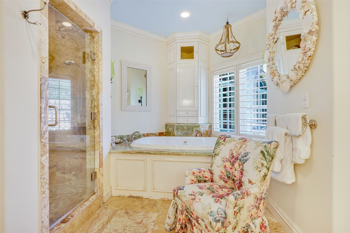 Mansions Direct Intracoastal waterway Tuscan-style estate home