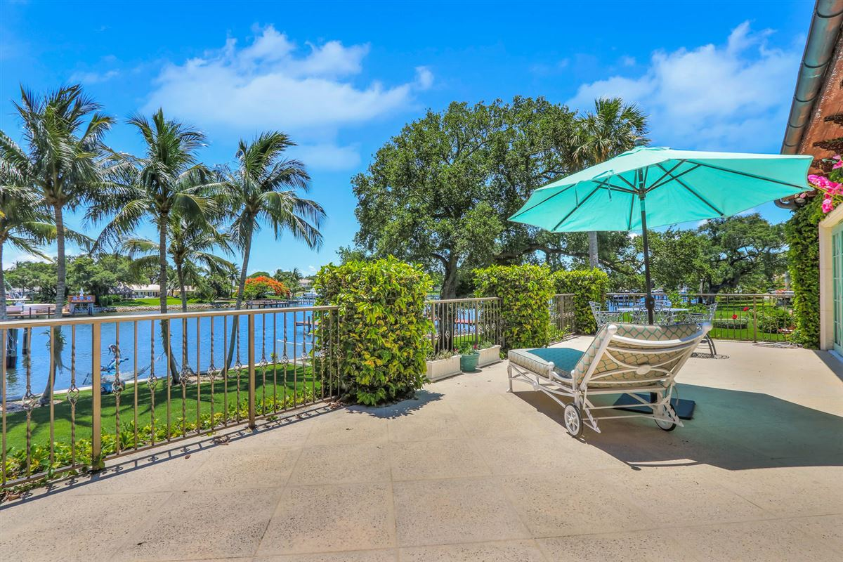 Direct Intracoastal waterway Tuscan-style estate home luxury homes