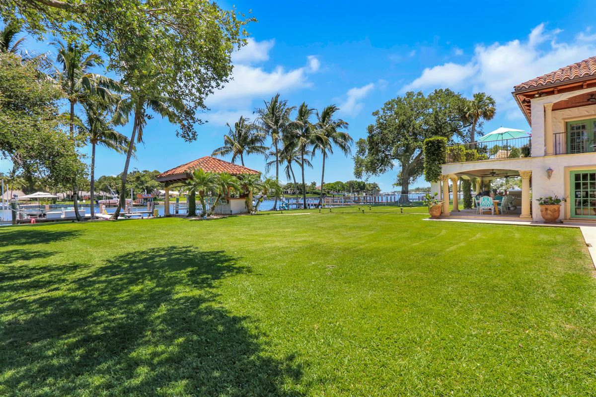 Direct Intracoastal waterway Tuscan-style estate home mansions