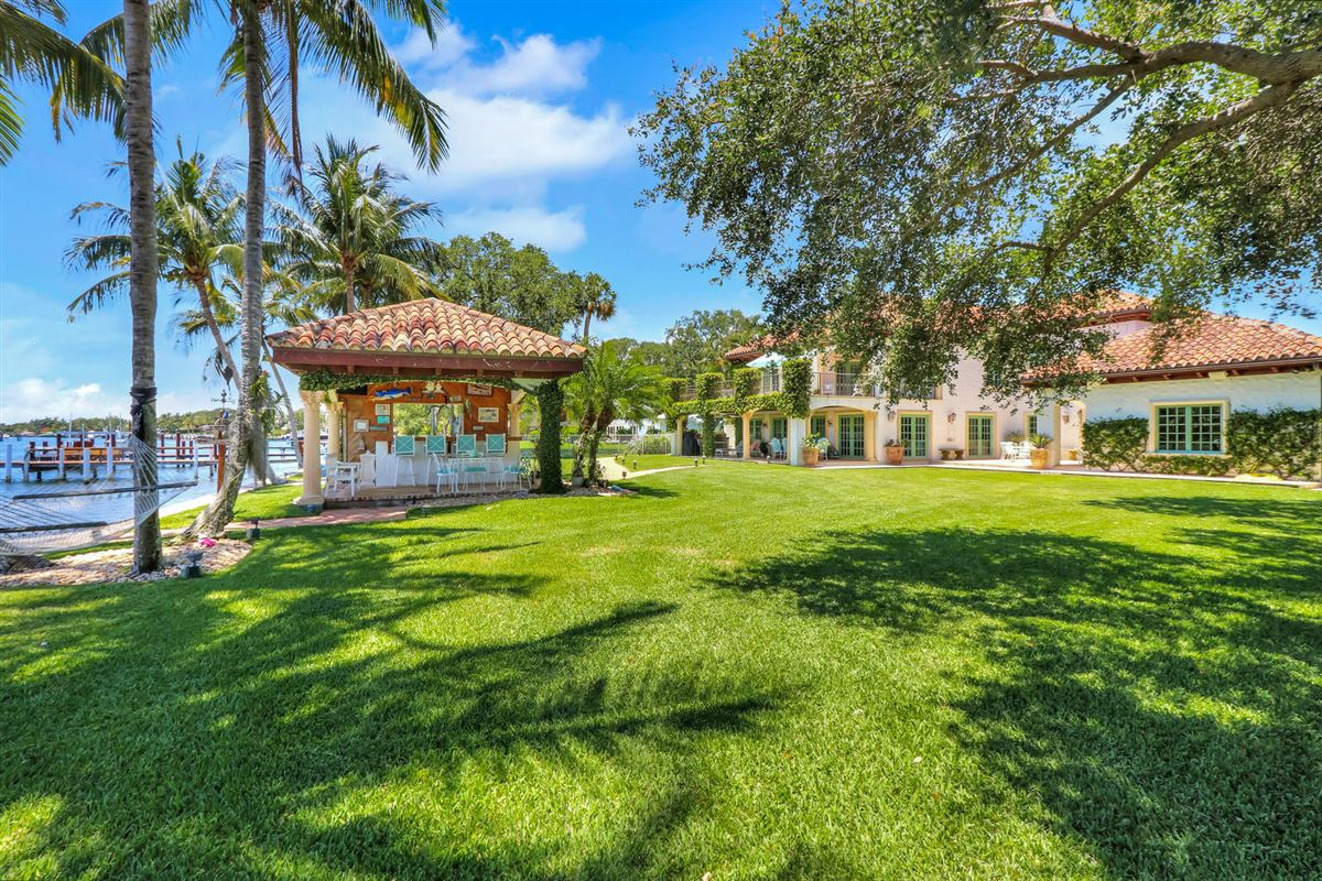 Luxury homes in Direct Intracoastal waterway Tuscan-style estate home