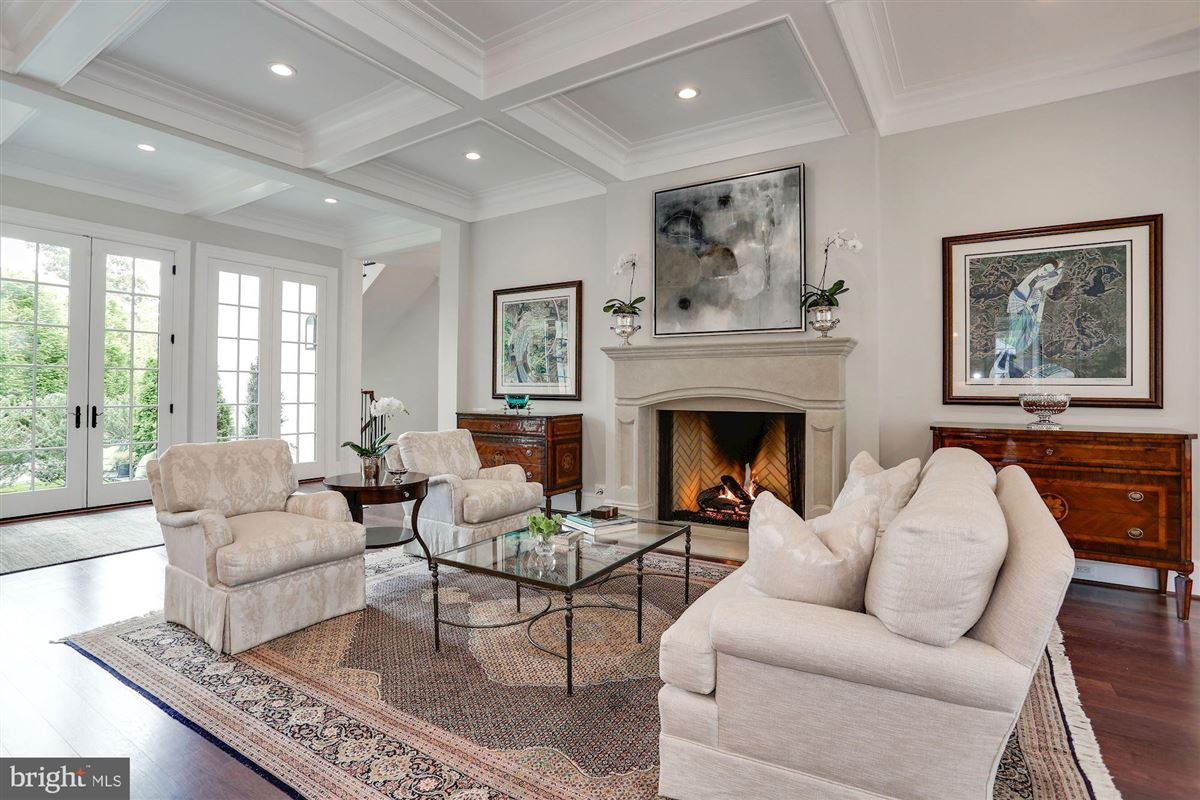 Exquisite French Country Stucco Home in north arlington luxury properties
