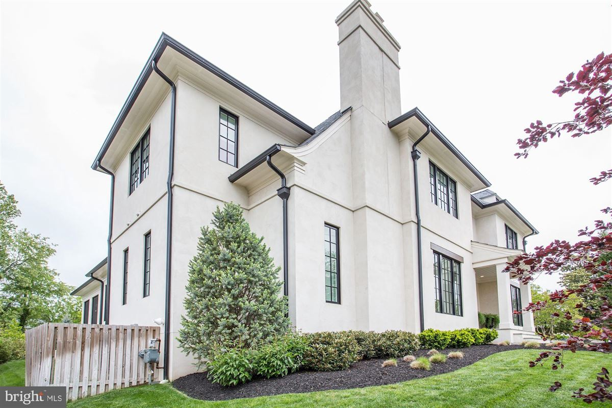 Exquisite French Country Stucco Home in north arlington luxury homes