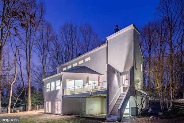 Mansions in custom contemporary home on a private wooded lot