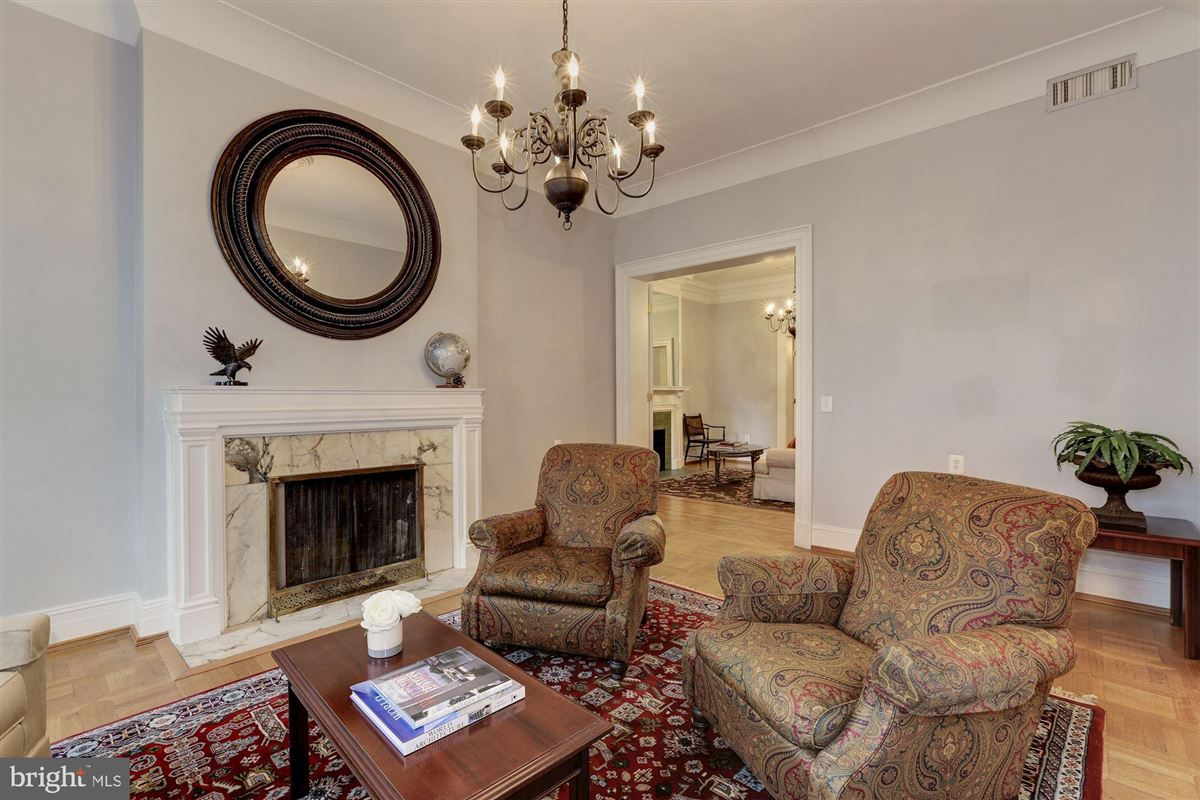 Luxury real estate thoughtfully renovated 1906 Kalorama home